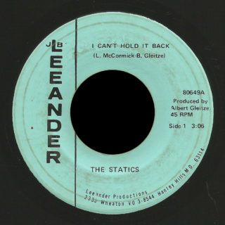 Statics JB Leeander 45 I Can't Hold It Back