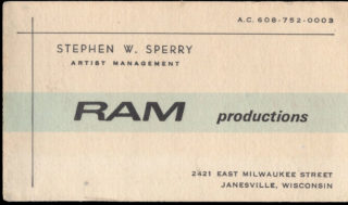 Stephen Sperry Ram Productions, Janesville