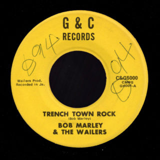 Bob Marley & the Wailers G&C 45 Trench Town Rock